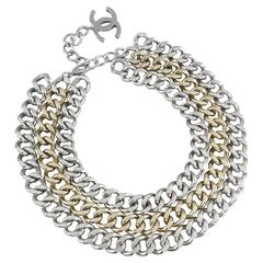 Chanel 14A Triple Chain Runway Necklace in Box
