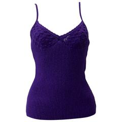 Gianni Versace Couture Lurex Knit Camisole Fall 1997