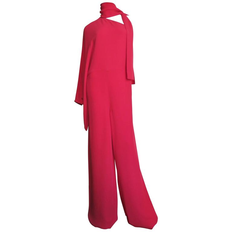 Valentino Silk One Sleeve Jumpsuit