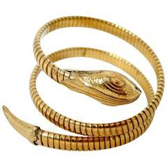 Vintage 1930s Coiled Serpent Bracelet