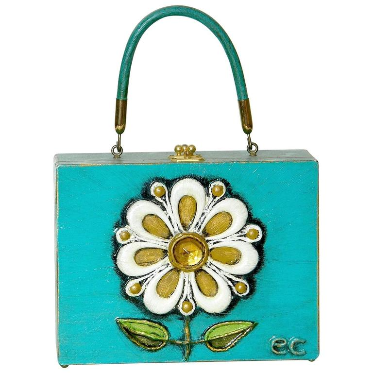 Enid Collins Papier Mache Handbag For Sale