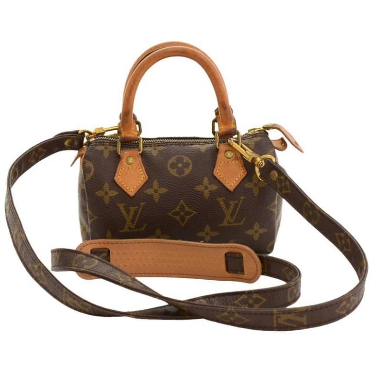 Vintage Louis Vuitton Mini Speedy Sac HL Monogram Canvas Hand Bag + Strap 1