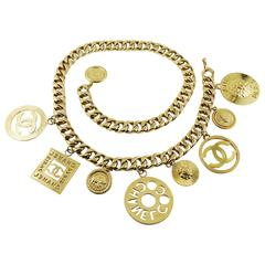 Chanel Vintage Massive Charm Chunky Chain Belt Necklace Season 27