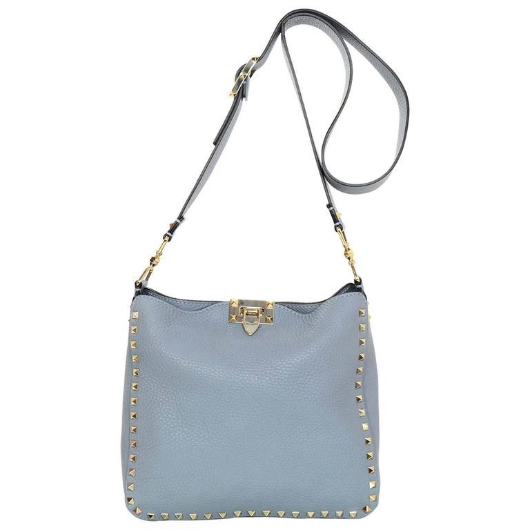 Valentino Slate blue leather shoulder bag qNDSgQ4o