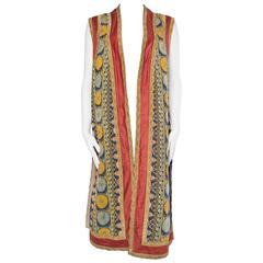 Persian Inspired Victorian Opera Costume Tunic Vest
