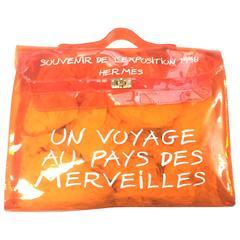 MINT condition. Hermes a rare transparent Vintage orange vinyl Kelly bag. Rare