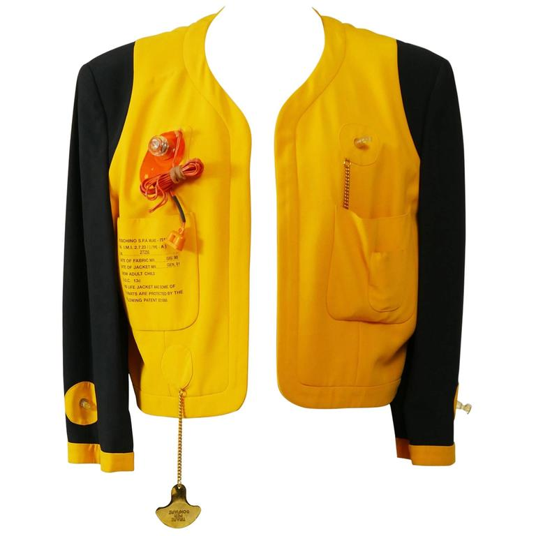 1980s MOSCHINO Cruise Me Baby Life Jacket Blazer For Sale