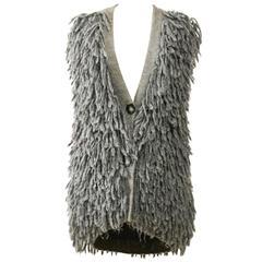 STELLA McCARTNEY Gray Wool Sweater Vest Jacket