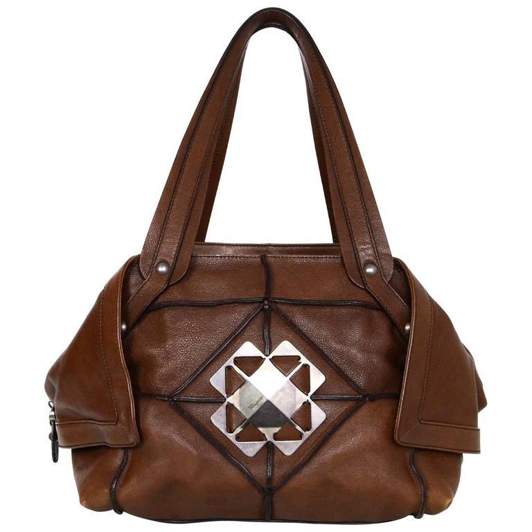 0fdf9091f5 Salvatore Ferragamo Brown Leather Shoulder Bag For Sale at 1stdibs
