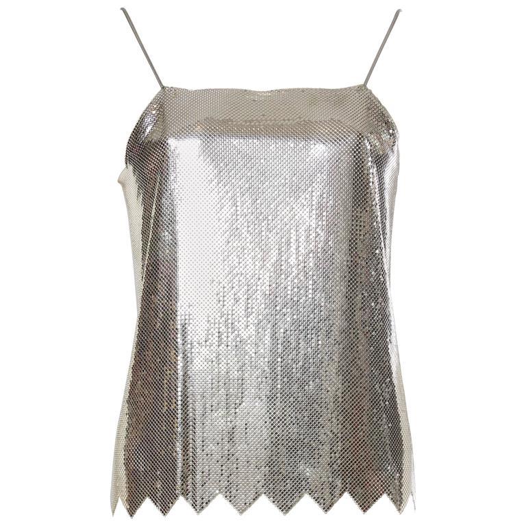 Metal Mesh Lingerie Strap Top