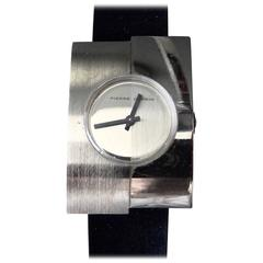 Jaeger by Pierre Cardin stainless steel Modernist Manual Wristwatch