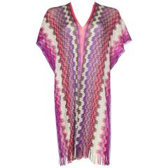 Missoni 3-Way Wear Scarf Top with Fringe