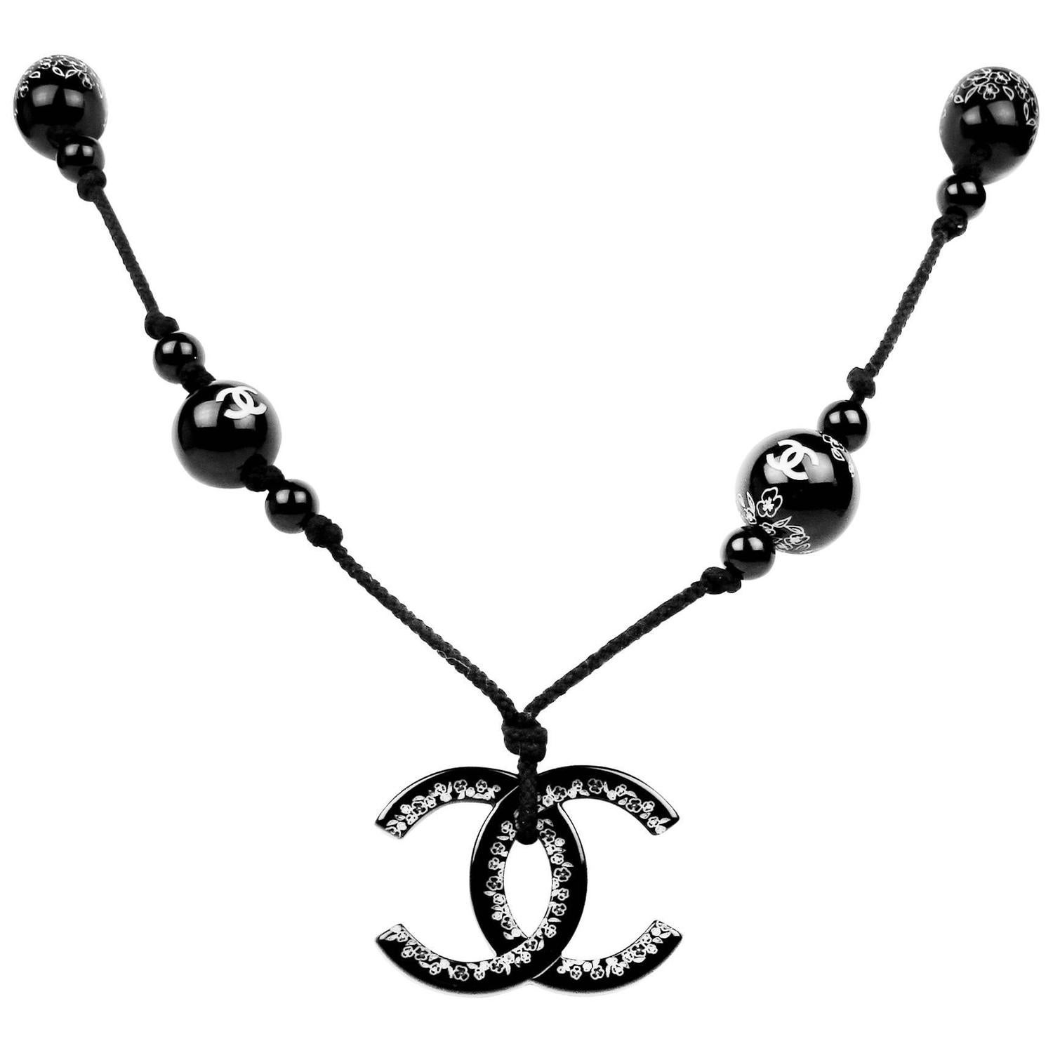 Chanel XL CC Beaded Necklace