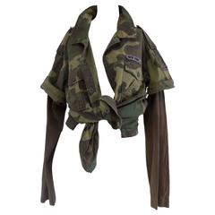 1960s Camouflage Army Jacket Shirt