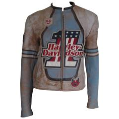 "rare harley davidson limited edition ""03 lady's leather jacket"