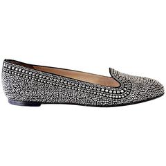 Valentino Shoe Black and Silver Studded Flat 38.5 / 8.5