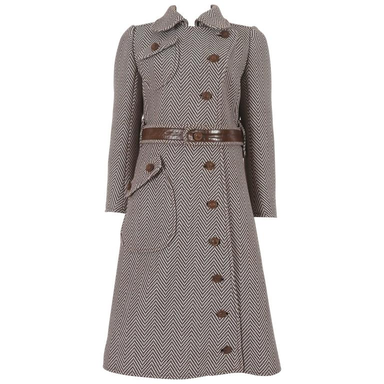 Courreges Haute Couture tailored tweed coat, circa 1969