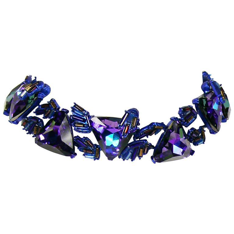 Chrsitian Lacroix  Vintage Crystal Choker Necklace For Sale