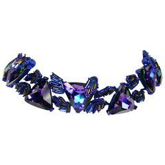 Chrsitian Lacroix  Vintage Crystal Choker Necklace