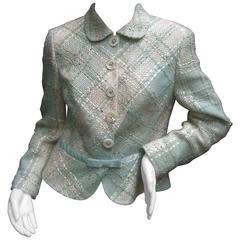 Rena Lange Stylish Chunky Wool Knit Jacket