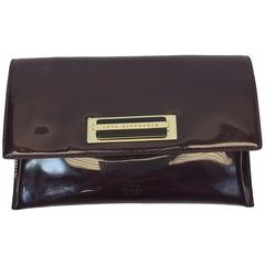 Anya Hindmarch Wine Patent Leather Clutch Wallet
