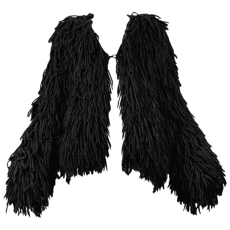 Margiela Black Alpaca Shag Jacket 1993-94 1