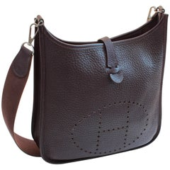 Hermes Evelyne Bag Messenger Raisin Veau Taurillon Clemence Leather
