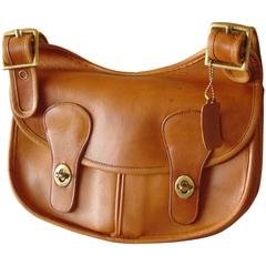 Bonnie Cashin for Coach Saddle Leather Pony Express Bag NYC 1960s