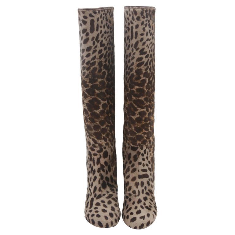Lanvin Leopard Print Boots