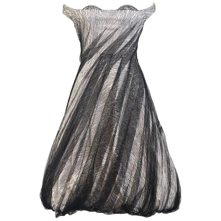 Alexander McQueen Tulle Overlay Runway Dress, 2007  For Sale