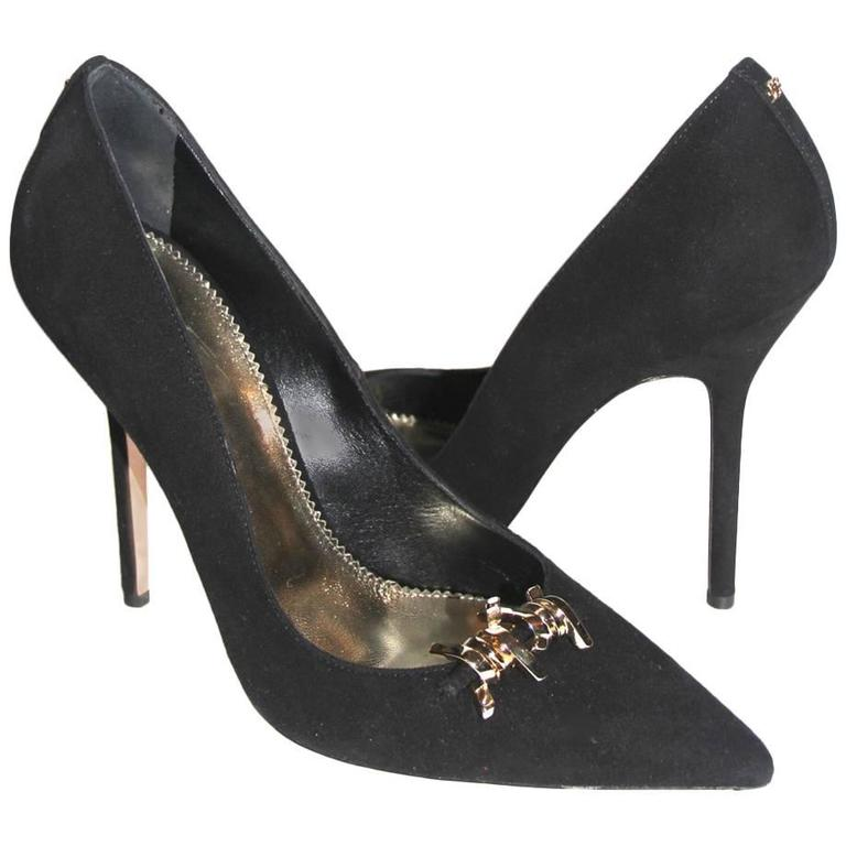 "DSQUARED2 ""Babe Wire""  Collection Black Suede Pumps"