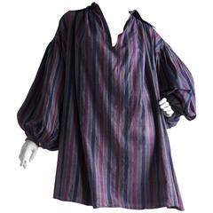 Vivienne Westwood Malcolm McLaren Pirate Worlds End Striped Cotton Shirt A/W 81