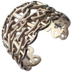 """Silver Hermès Bracelet """"Chaîne d'Ancre Enchaînée"""""""