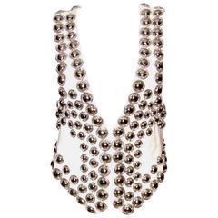 Balmain Hemp Vest with Silver Rivets - FR 36 - Pristine Condition