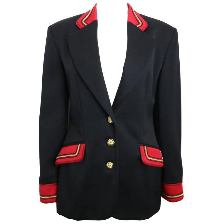 Alberta Ferretti Studio Black Officer Jacket