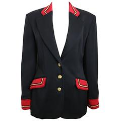 Alberta Ferretti Studio Black Officer Jacket