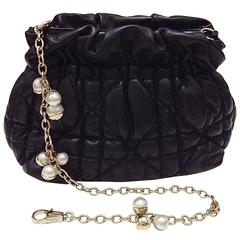 Christian Dior ✿*゚MISE EN DIOR Pearl Jeweled Chain Quilted Bag Handbag