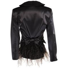 Couture Alma Feather Trimmed Bustle Back Jacket