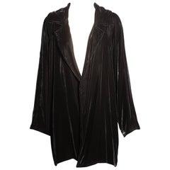Zoran Black Silk Velvet Jacket
