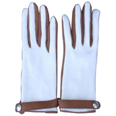 Hermes Women Gloves Helsinki Cashmere and Leather Size 6,5