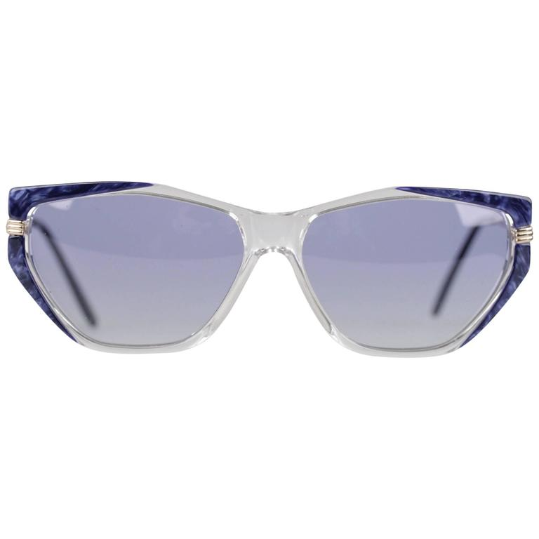 YVES SAINT LAURENT Vintage MINT Blue SUNGLASSES EUTERPE 60/13 710 For Sale