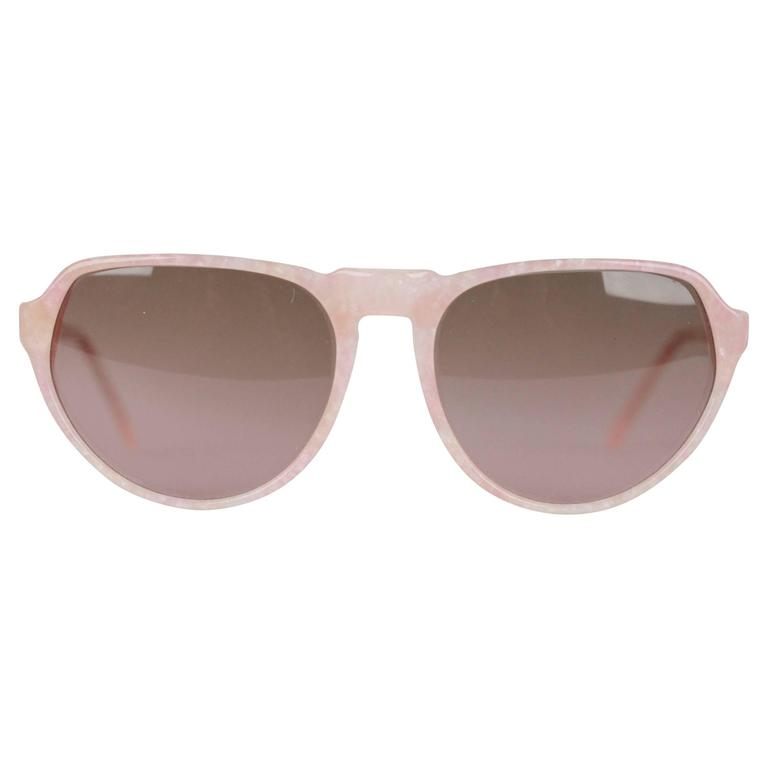 YVES SAINT LAURENT Vintage MINT marbled SUNGLASSES mod PRIAM 58/16 378