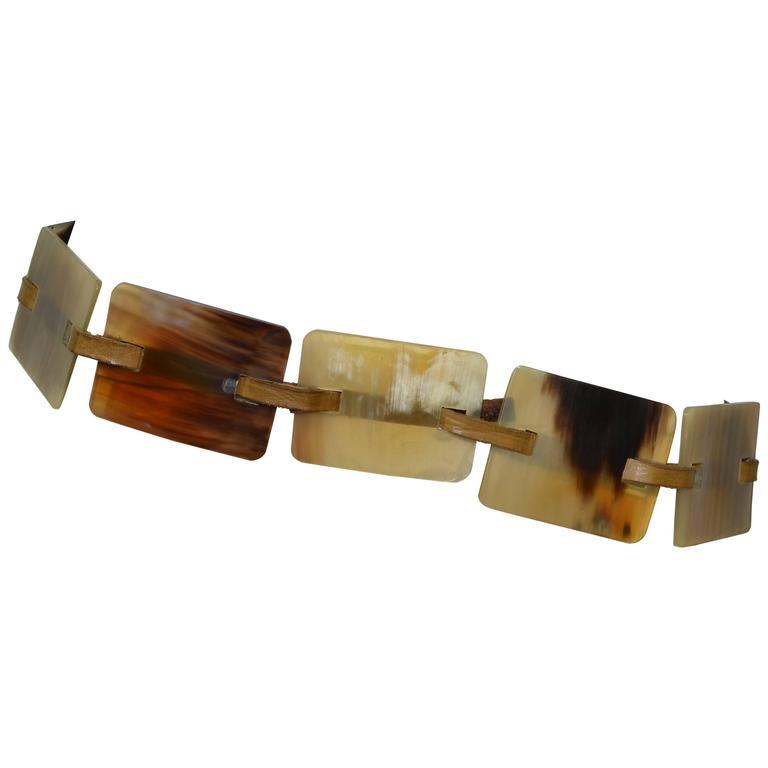 Brunello Cucinelli Horn Waist Tie Belt