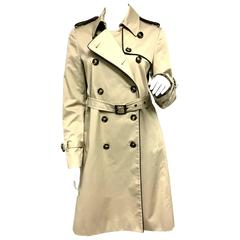 RED Valentino Khaki Trench Coat with Bow and Lace Detail New Size 6