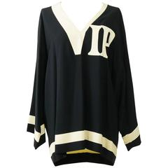 1990s MOSCHINO Couture VIP Football Jersey Blouse