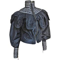 1990s Jean Paul Gaultier Modern Victorian Gothic Silk Jacket