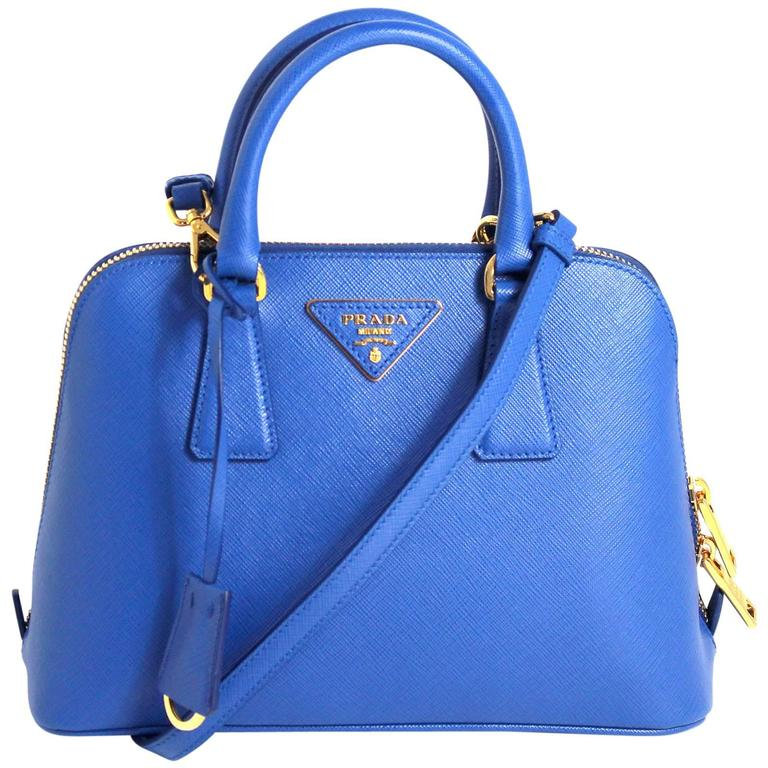 Prada Cobalt Azzuro Saffiano Promenade Bag- Mini 1