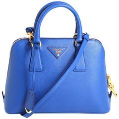Prada Cobalt Azzuro Saffiano Promenade Bag- Mini