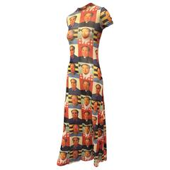 "1995 Vivienne Tam ""Mao"" Print Cheongsam-Style Maxi Dress In Museum Collections"