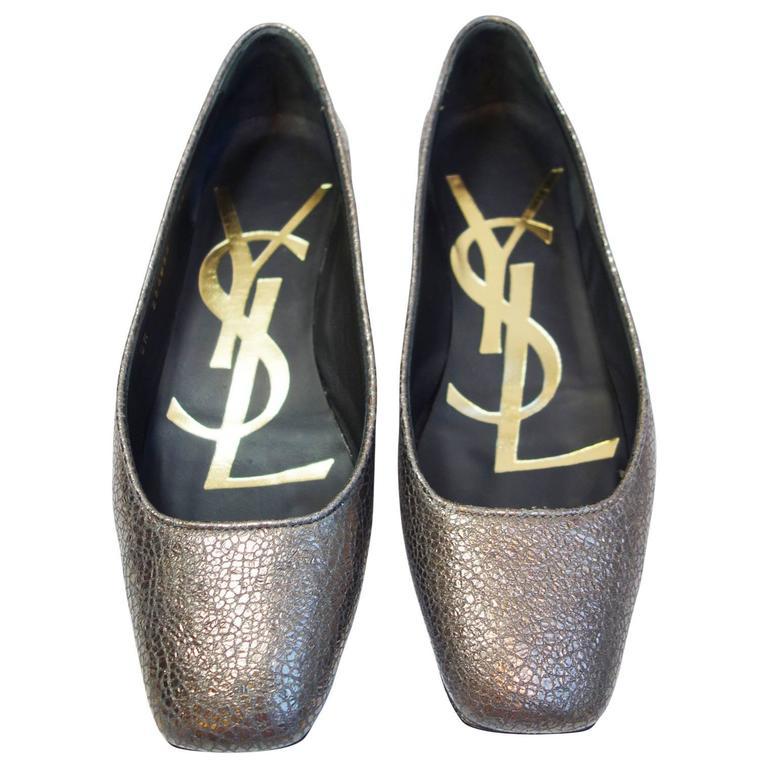ccb3de5b31c YSL YVES SAINT LAURENT SAHARIENNE VULCANO Ballet Flats Shoes Size 35 For  Sale